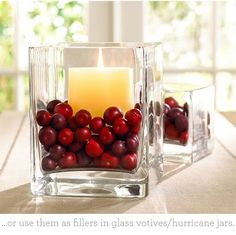 Candles with Cranberries, easy peasy