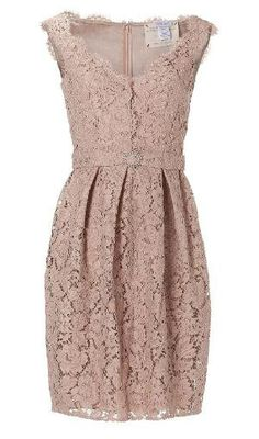 [not available] Collette Dinnigan Peach Sleeveless French Garden Lace Dress - Polyvore on Wanelo