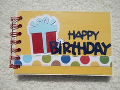 Preserve your birthday memories with this cute birthday mini scrapbook. This chipboard album is 4x6 inches and is made of 6 bound pieces of