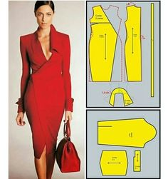 Peplum Outfit, Dress Making Patterns, Skirt Patterns Sewing, Clothing Patterns, Moda Afro, Bodice Pattern, Sewing Blouses, Fashion Design Sketches, Clothing Hacks