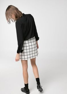 i really want a checked skirt