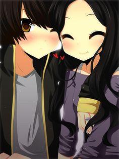 Anime Couples - you keep me cool