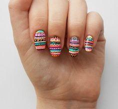 Tribal manicure
