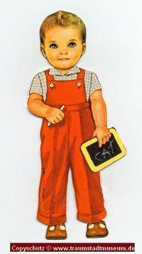 TED Blonder Puppenjunge Anziehpuppe ausgestanzt Reprint von 1920 Paperdoll