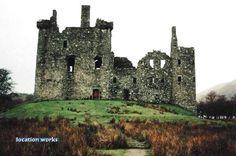 Ruined castle by Scottish loch