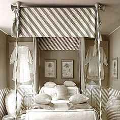(Blakes Hotel, London)  I love grey.  This is a little much for everyday, but it would be cool to stay a night here....
