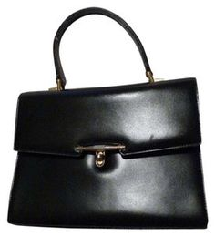 d4b682a7d60 Gucci True 1960 s Mod Early Kelly Style Hard  amp  Boxy Shape Excellent Vintage  Satchel in