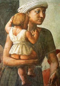 "Detail from Masaccio's ""The Distribution of the Goods of the Community and the Death of Ananias"""