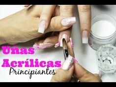 Uñas de acrilico para principiantes - beginner acrylic nails - YouTube