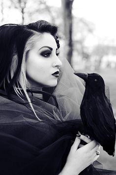 I don't care for that type of nose piercing but I adore this picture!!! #AlternativeModeling