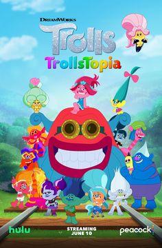 TrollsTopia Season 3 Trailer | Peacock Kids and Hulu | POPSUGAR Family Dreamworks Animation, Animation Film, That Poppy, Captain Underpants, Family Calendar, Funny New, Kung Fu Panda, Smooth Jazz, Hair Raising