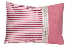 Decorative Pillow, Pink Stripes on OneKingsLane.com #sarahjanestudios