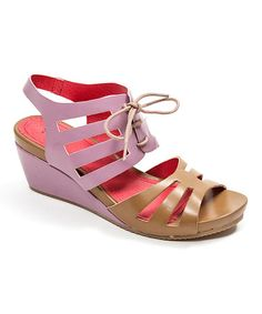 Look what I found on #zulily! Purple Jackpot Leather Sandal by French Blu #zulilyfinds