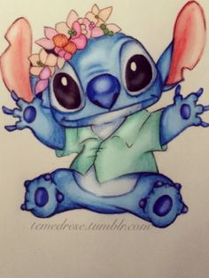 Cute stitch drawing - how to crochet Cute Disney Drawings, Disney Sketches, Cartoon Drawings, Cute Stitch, Lilo And Stitch, Disney Kunst, Disney Art, Amazing Drawings, Easy Drawings