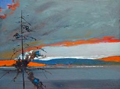 Crimson Charge by David Lidbetter - Canadian with Group of 7 influences