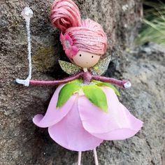 Handmade Whimsical Flower Fairy Dolls; Tooth Fairy Doll.  Browse unique items from WandsAndWillows on Etsy, a global marketplace of handmade, vintage and creative goods.