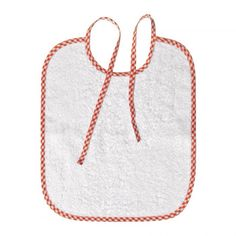"""Bavaglino con lacci nel collo per scuola materna. Modello """"Semplice"""" (28x33 cm). 100% cotone anallergico. Lo trovi qui: http://www.coccobaby.com/prodotto/set-asilo/bavaglini-con-elastico/1739/bavaglino-con-lacci-per-asilo,-semplice-bianco  #bambini #kids #coccobaby #cetty #shoppingonline #setasilo #instashop"""