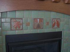 Arts & Crafts - Fireplace - Fay Jones Day Tiles