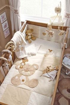 Pottery Barn Kids' bedroom furniture is made for quality and also safety and security. Locate furniture for kids and children to decorate with timeless style. Baby Bedroom, Baby Boy Rooms, Baby Boy Nurseries, Baby Room Decor, Baby Cribs, Quilt Baby, Kids Bedroom Furniture, Baby Furniture, Teddy Bear Nursery