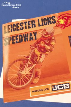 Full colour car window stickers printed for Leicester Lions Speedway as part of a bulk order for several speedways across the UK. The custom printed car window stickers include the Watling JCB sponsorship logo, and are printed so the design appears on the sticky side. Car stickers stick to the inside of car rear windows, with the design facing outwards. Car Window Stickers, Car Stickers, Bulk Order, Rear Window, Leicester, Custom Cars, Lions, Screen Printing, Windows