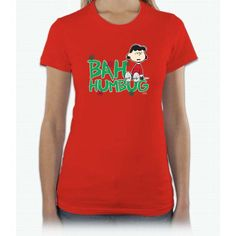 Bah Humbug Dark Lucy Short Sleeve Women T-Shirt