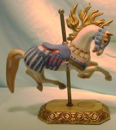 Willitts - Illions Flame-Mane Carousel Memories Americana Collection #5480 - Collectible Carousel Horse Figurine by 60YearsOfLove on Etsy