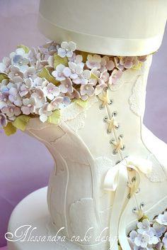 Corset Dress Bridal Shower Cake