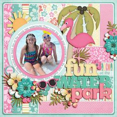 Summer Scrapbook page