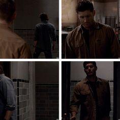[gifset] Makes you want to just reach through the screen and slap Sam! 9x14 Captives #SPNS9 #Sam #Dean