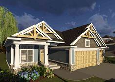 3 Bed Craftsman Ranch with Open Concept Floor Plan - 89988AH | Craftsman, Northwest, 1st Floor Master Suite, Butler Walk-in Pantry, CAD Available, PDF, Split Bedrooms | Architectural Designs