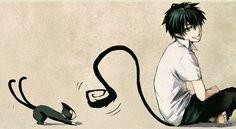 Ao no Exorcist- Rin and Kuro! X3