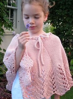 knitted poncho patterns for children | Pixie Child Poncho - Knitting Patterns by Kerry Milani