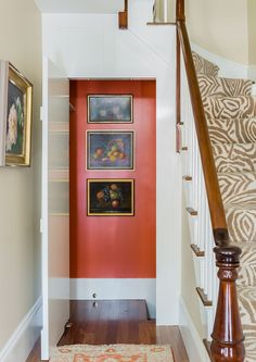 Charlestown, MA, Hallway with staircase.