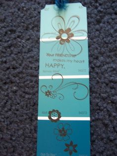 paint sample bookmark by griperang - Cards and Paper Crafts at Splitcoaststampers