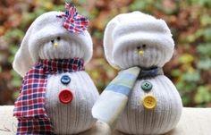 bonhomme de neige en chaussettes
