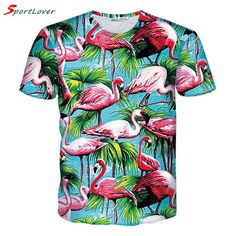 Cheap print t shirt, Buy Quality fashion t shirt directly from China t shirt Suppliers: 2017 New Summer T-Shirt Print T Shirt Flamingos Coco Tree Fashion Clothes Tee Chemise Camisas for Unisex Women Men 3d T Shirts, Casual T Shirts, Men Casual, Casual Clothes, Flamingo Print, Summer Tshirts, Herren T Shirt, Short Sleeve Tee, Short Sleeves