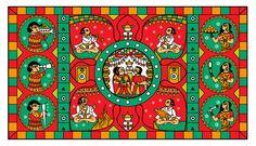 Phad Painting - Indian Folk Art   Wedding Invite Design on Behance