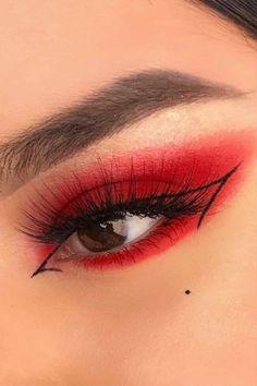 Edgy Makeup, Makeup Eye Looks, Eye Makeup Art, Crazy Makeup, Cute Makeup, Skin Makeup, Makeup Meme, Mac Makeup, Clown Makeup
