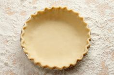 Homemade Pie Crust - Homemade pie crust using either lard or shortening. Can be made using a food processor or simply worked in by hand.