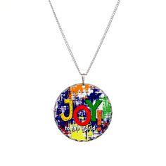 Joy to the World! Necklace Circle Charm