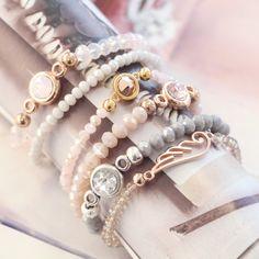 Werden Sie inspriert durch diese schöne Armbänder mit hippen Top Facett Perlen!
