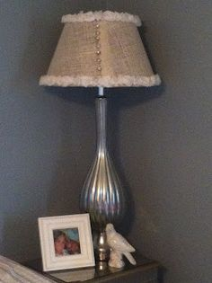 Lamp Shade with pearl buttons on seam