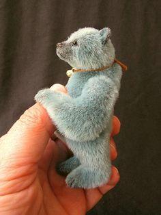 Miniature Artist Bear PDF Pattern for SILVER by par aerlinnbears