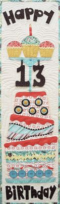 Happy Birthday wall hanging with changeable numbers
