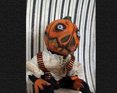 Ichabod, OOAK art doll by sherrieneilson1 on Etsy Paper Mache Clay, Paper Clay, Halloween Patterns, Halloween Design, Little Girl Lost, Doll Stands, Star Art, Weird Creatures, 6 Years