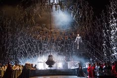 Norma at the Royal Opera House Covent Garden. Production by Àlex Ollé and Valentina Carrasco. Sets by Alfons Flores.