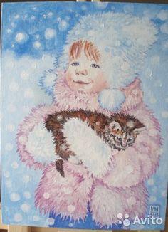 """Зимний день, крупные снежные хлопья летят на землю. Маленькая девочка вышла на прогулку с мамой и увидела на лавочке замерзшего съежившегося маленького котенка. Взяла его на руки. Вопрос к маме: """"Я зяму китю амой?""""Для тех кто не смог перевести: на нашем..."""