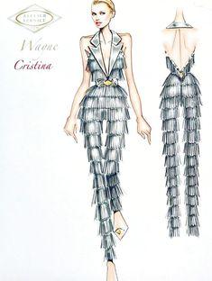 Fashion Design Sketchbook, Fashion Design Portfolio, Fashion Design Drawings, Fashion Sketches, Fashion Illustration Chanel, Fashion Drawing Tutorial, Wedding Dress Sketches, Fancy Gowns, Moda Fashion