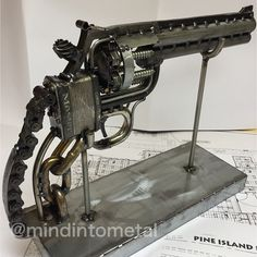 Scrap metal gun replicas any type, dcahow@gmail.com #commissionbuild #scrapmetal #smith #revolver ...