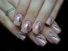Best Pretty Nails in 2020 Classy Nails, Fancy Nails, Simple Nails, Pink Nails, Pretty Nails, Black Nails, Nail Manicure, Toe Nails, Nail Polish